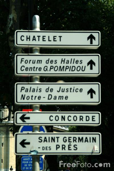 Picture of Road Signs - Paris, France - Free Pictures - FreeFoto.com