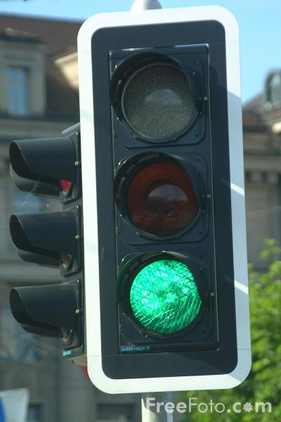 Picture of Road Traffic Lights - Free Pictures - FreeFoto.com