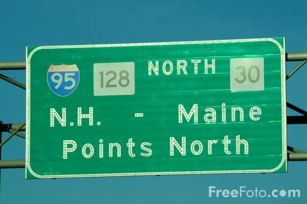 Picture of Interstate 95 Road Traffic Sign - Free Pictures - FreeFoto.com