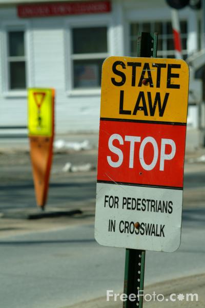 Picture of State Law Stop Road Traffic Sign - Free Pictures - FreeFoto.com