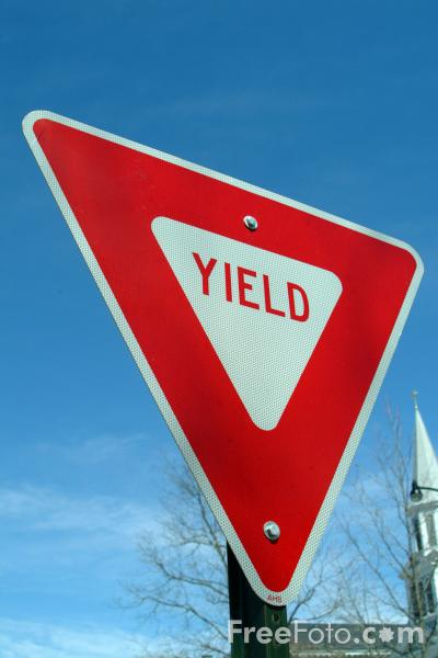 Picture of Yield Road Traffic Sign - Free Pictures - FreeFoto.com