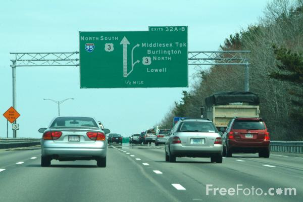 Picture of Interstate Road Traffic Sign - Free Pictures - FreeFoto.com
