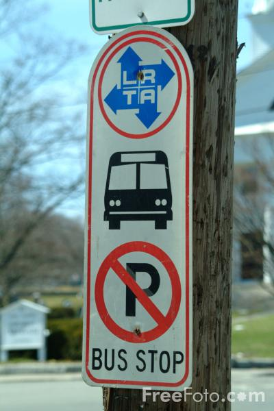 Picture of Bus Stop Road Traffic Sign - Free Pictures - FreeFoto.com
