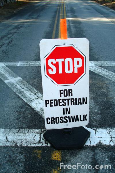 Picture of Stop for Pedestrians in Crosswalk, Road Traffic Sign - Free Pictures - FreeFoto.com