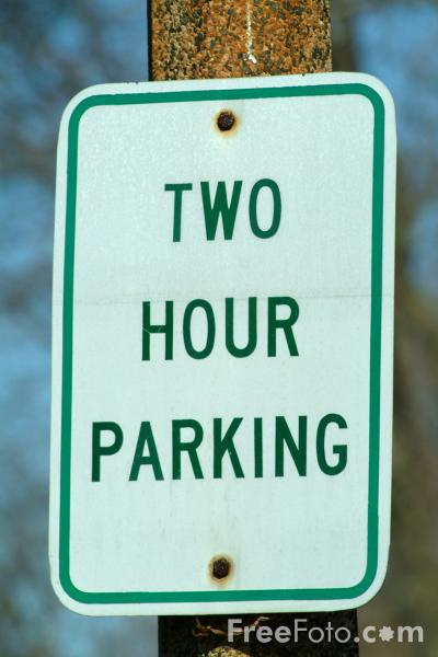 Picture of Two Hour Parking Road Traffic Sign - Free Pictures - FreeFoto.com