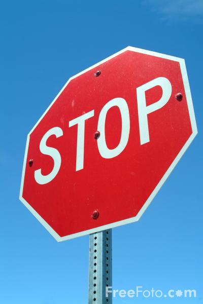 Picture of Stop Road Traffic Sign - Free Pictures - FreeFoto.com
