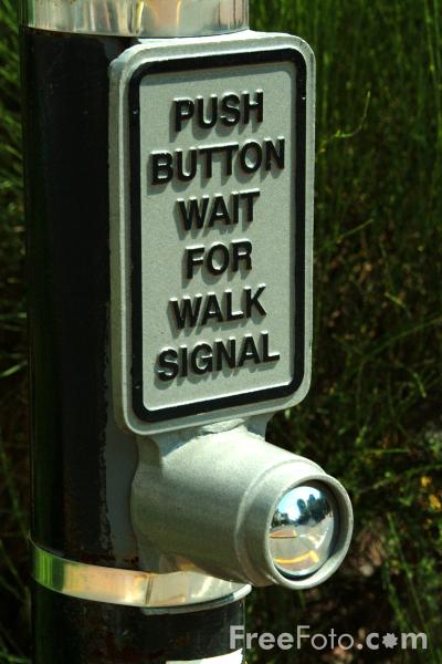 Picture of Push button wait for walk signal - Free Pictures - FreeFoto.com