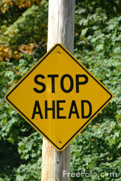 Stop Ahead - USA Road Sign pictures, free use image, 41-11 ...