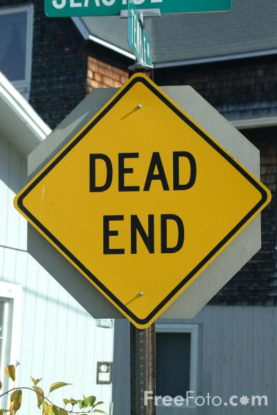Picture of Dead End - USA Road Sign - Free Pictures - FreeFoto.com