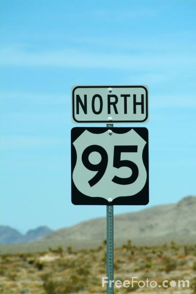 Picture of Route 95 Road Traffic Signs - Free Pictures - FreeFoto.com
