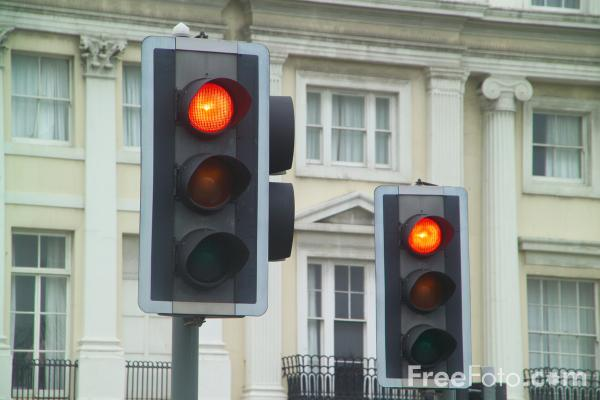 Picture of Red Traffic Signal - Free Pictures - FreeFoto.com