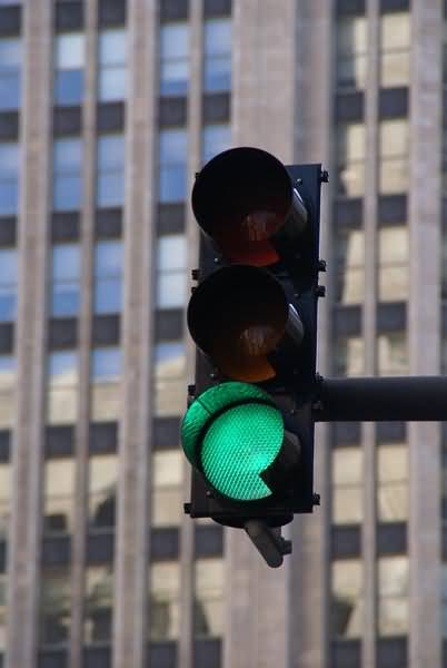 Picture of Green Traffic light - Free Pictures - FreeFoto.com