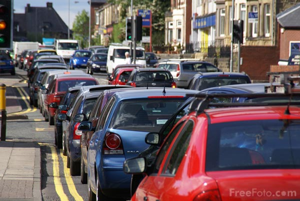Picture of Traffic congestion - Free Pictures - FreeFoto.com