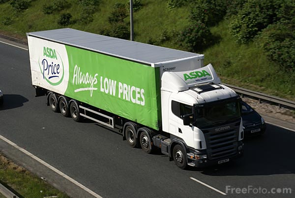 Picture of ASDA Articulated lorry - Free Pictures - FreeFoto.com