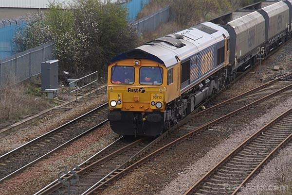 Picture of GBRf Class 66 66713 - Free Pictures - FreeFoto.com
