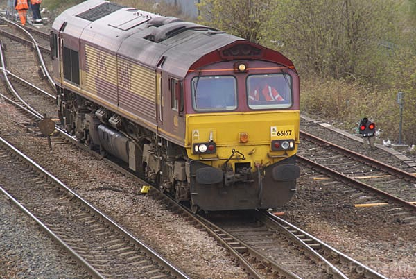 Picture of EWS Class 66 66167 - Free Pictures - FreeFoto.com