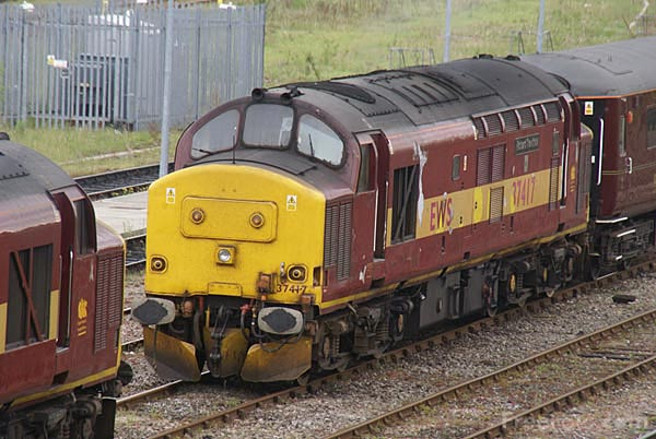 Picture of EWS Class 37 37417 at Tyne Yard - Free Pictures - FreeFoto.com