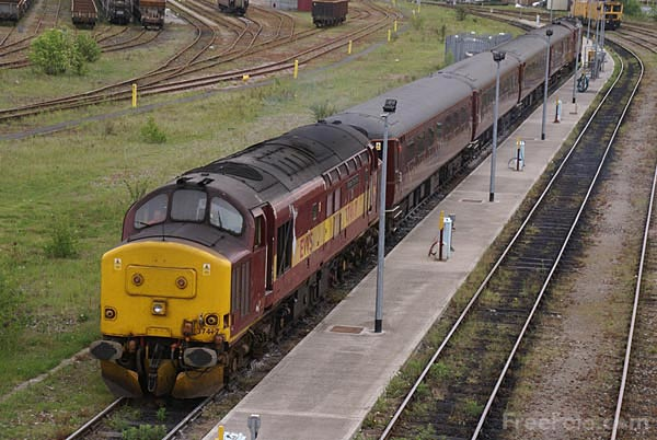 Picture of EWS Class 37 37417 - Free Pictures - FreeFoto.com