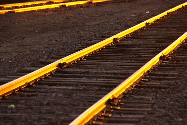 Picture of Railroad at Sunset - Free Pictures - FreeFoto.com