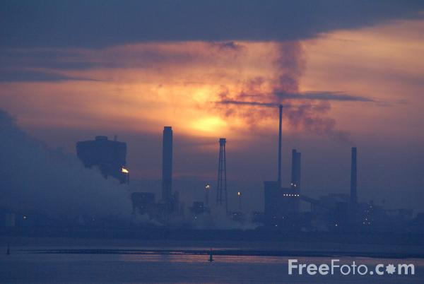 Picture of Industrial Sunrise - Free Pictures - FreeFoto.com