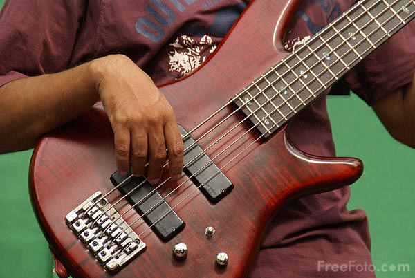 Picture of Bass Guitar - Free Pictures - FreeFoto.com