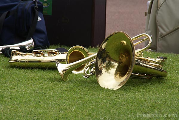 Picture of Brass Instruments - Free Pictures - FreeFoto.com
