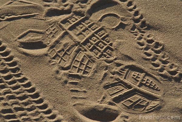 Picture of Footprints In The Sand - Free Pictures - FreeFoto.com
