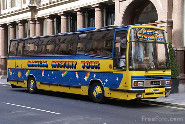 Picture of The Magical Mystery Tour Bus - Free Pictures - FreeFoto.com