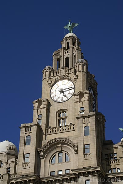 Picture of The Royal Liver Building, Liverpool. - Free Pictures - FreeFoto.com