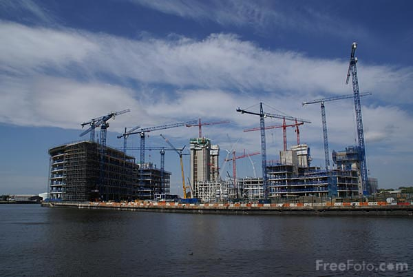 Picture of Construction of Media City UK - Free Pictures - FreeFoto.com