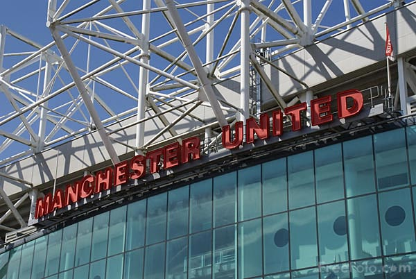 Picture of Manchester United Old Trafford football ground. - Free Pictures - FreeFoto.com