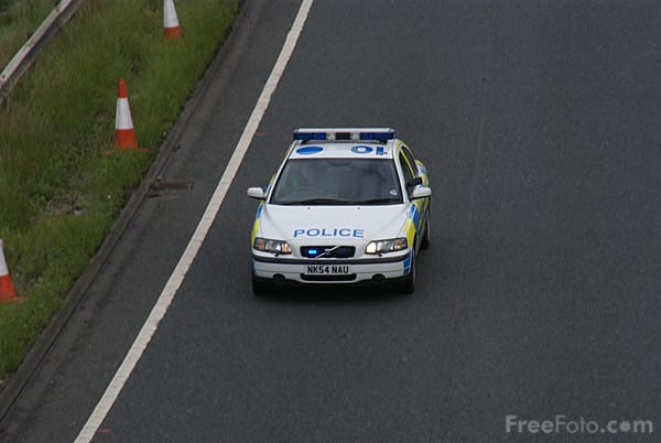 Picture of Police Traffic patrol car - Free Pictures - FreeFoto.com