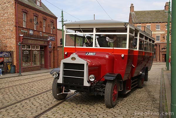 Picture of Replica Motor Bus at Beamish Museum - Free Pictures - FreeFoto.com