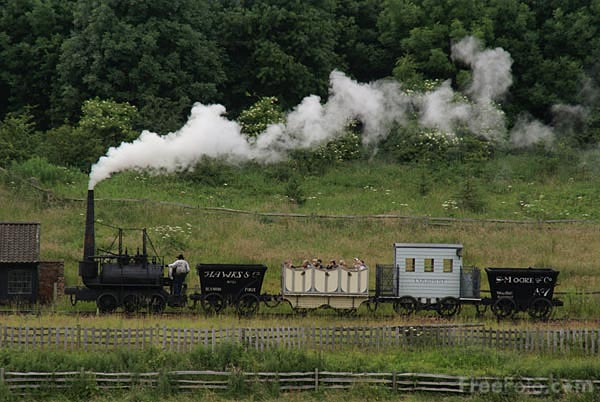 Picture of Steam Elephant steam locomotive - Free Pictures - FreeFoto.com