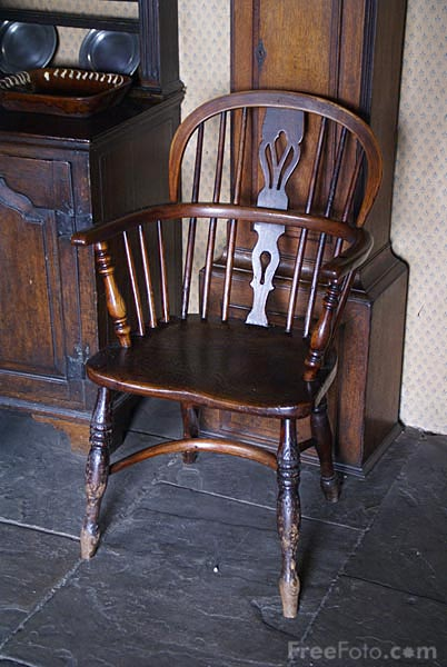Picture of Old Wooden Chair - Free Pictures - FreeFoto.com