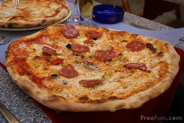 Picture of Pizza - Free Pictures - FreeFoto.com