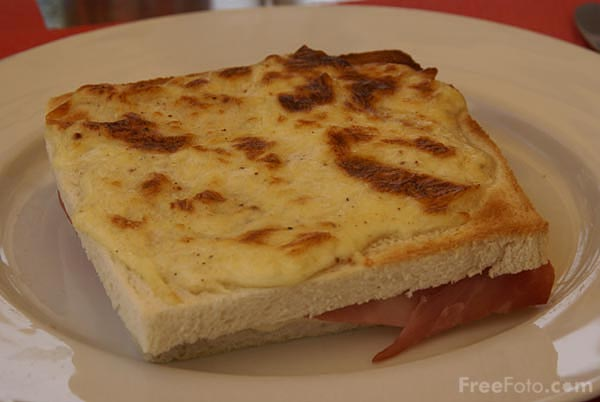 Picture of Croque monsieur ham and cheese grilled sandwich - Free Pictures - FreeFoto.com