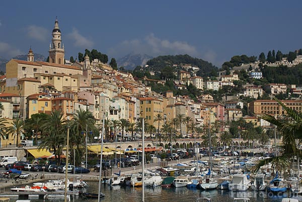 Picture of Menton Old Town and Harbour - Free Pictures - FreeFoto.com