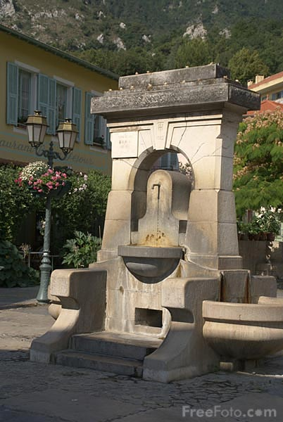 Picture of Stone fountain Gorbio on the French Riviera - Free Pictures - FreeFoto.com