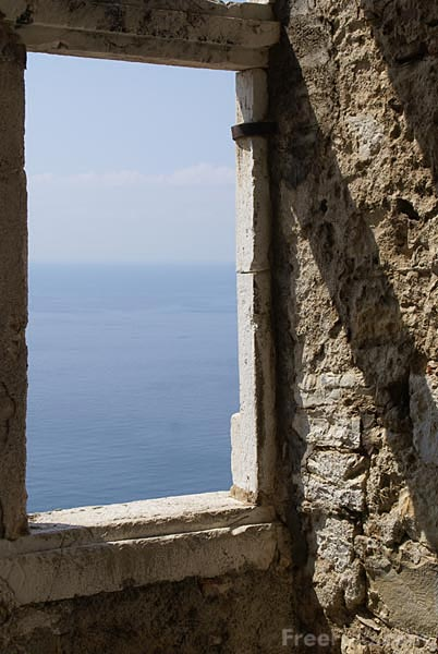 Picture of View of the Sea through a window - Free Pictures - FreeFoto.com