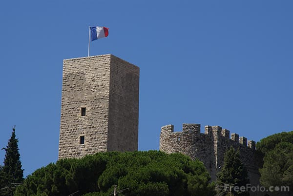 Picture of Old Cannes Castle and Castre Tower, Cannes - Free Pictures - FreeFoto.com