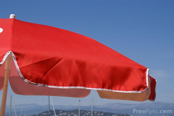 Picture of Red parasol - Free Pictures - FreeFoto.com