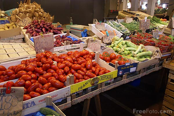 Picture of Indoor Market, Ventimiglia, Italy - Free Pictures - FreeFoto.com