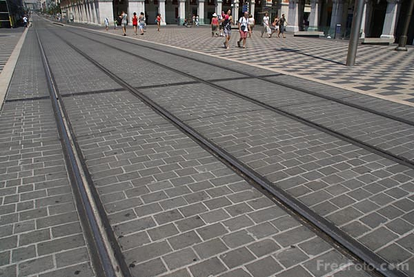 Picture of Nice Tramway Tram Lines Close Up - Free Pictures - FreeFoto.com