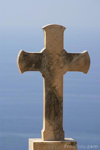 Picture of Christian Stone Cross - Free Pictures - FreeFoto.com