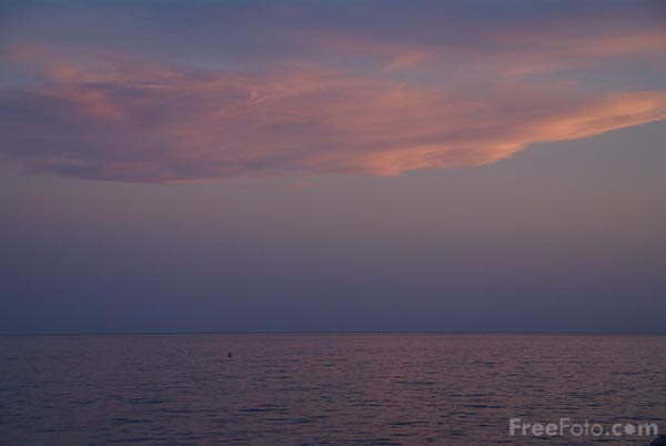 Picture of Sunset, Mediterranean Sea, Menton - Free Pictures - FreeFoto.com