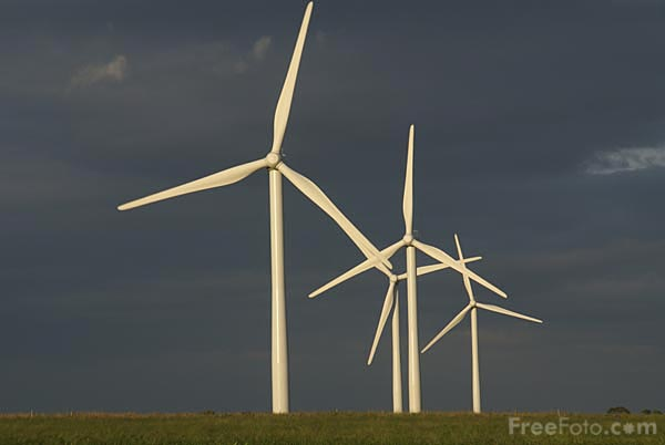 Picture of Knabbs Ridge Wind Farm - Free Pictures - FreeFoto.com