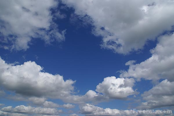 sky. Picture of Blue sky and white