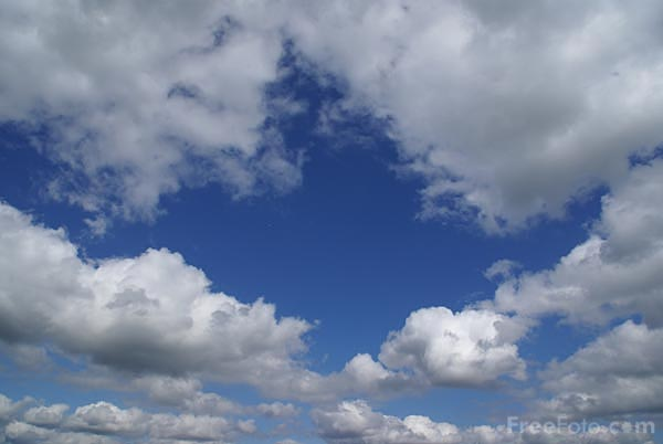 Picture of Blue sky and white clouds - Free Pictures - FreeFoto.com