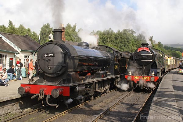 Picture of NER Raven Class T2 (LNER Q6) 0-8-0 steam locomotive 63395 - Free Pictures - FreeFoto.com